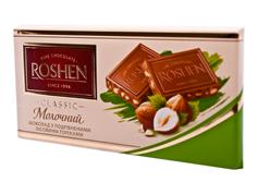 Шоколад Рошен 90г молочний дроблений лісовий горіх