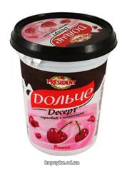Творожный десерт Дольче Президент 400г 3,4% глазурь вишня