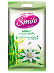 Серветки вологі Smile 15шт дейлі троянда орхiдея
