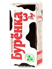Молоко Буренка 1л 3.2% рікеп