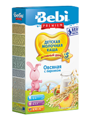 Каша Бебі 250г молочна вівсянка персик преміум
