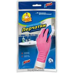 Рукавички ФБ  д.прибирання рожеві L