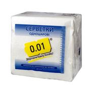 Серветка 0.01 100шт біла