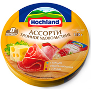 Сир пл. Хохланд 140г асорті жовтий