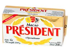 Масло Президент 200г 82%