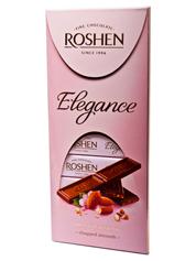 Шоколад Рошен 100г elegance темний молочний мигдаль