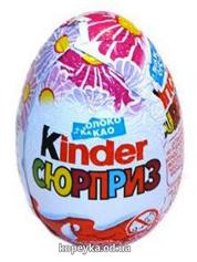 Шоколадне яйце Кіндер сюрприз для дівчаток Т72