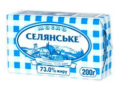Масло Селянське 200г 72.5% сладкосливочное