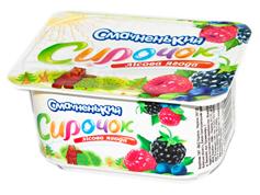 Сирок Смачненький 100г 5% пюре лісова ягода ванночка