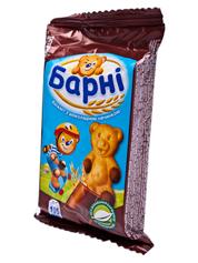 Бісквіт Барни 30г шоколад