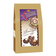 Печиво Стевіясан 130г біла глазур шоколад