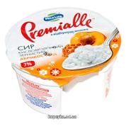 Творог Premialle 150г 7% зернистый абрикос мед ст