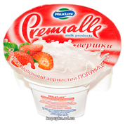 Творог Premialle 150г 7% зернистый полуниця ст