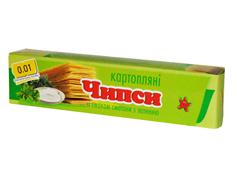 Чіпси 0.01 70г сметана зелень