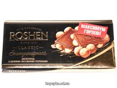 Шоколад Рошен 90г цілий л.горіх екстрачорній