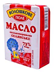 Масло Волошкове поле 200г 73% селянське